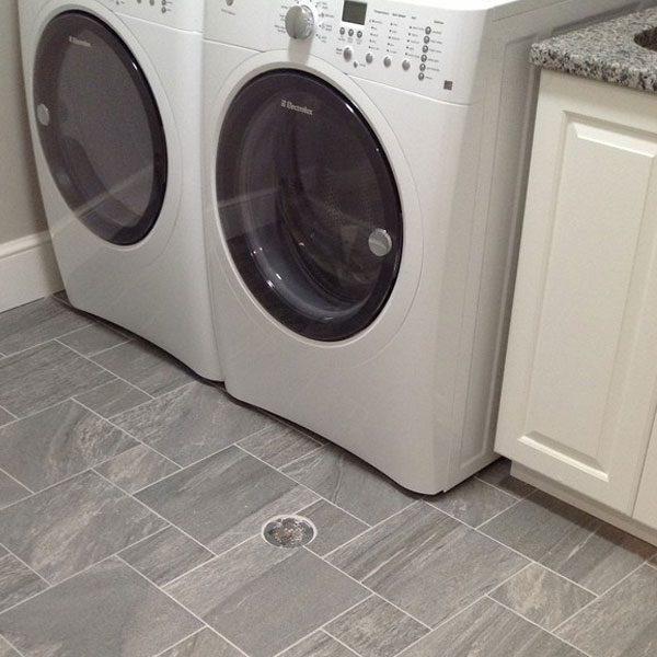 Laundry Room Floor Drain Installation